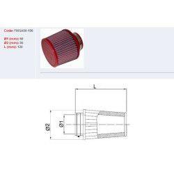 Filtre à air BMC conique Ø60mm longueur 120
