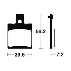 Plaquettes de frein arrière Tecnium MA324 Organique, Aprilia 125 RS 93-05