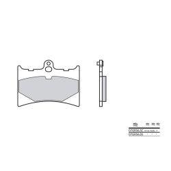 Plaquettes de frein avant Brembo 07GR56 05 organique, Aprilia 125 AF-1 RS