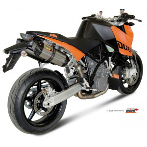 Silencieux Mivv Suono Inox embout Carbone, KTM 990 Superduke 05-14