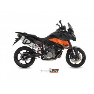 Silencieux Mivv Suono Inox embout Carbone, KTM 990 Supermoto SMT 07-13