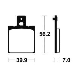 Plaquettes de frein arrière Tecnium MA19 Organique