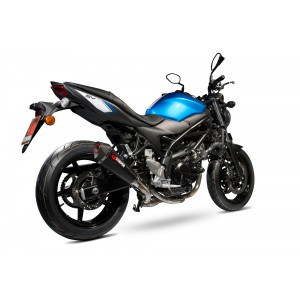 Echappement Scorpion Serket conique carbone, Suzuki SV 650 2016-17