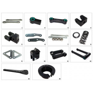Kit de rabaissement de selle TECNIUM -30mm Kawasaki Z650 2017-19