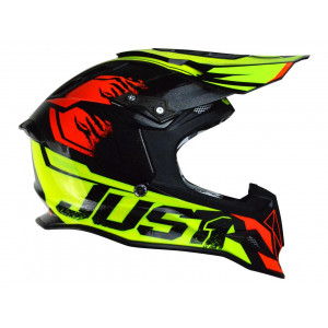 Casque JUST1 J12 Dominator rouge/lime fluo taille S