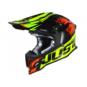 Casque JUST1 J12 Dominator rouge/lime fluo taille XS