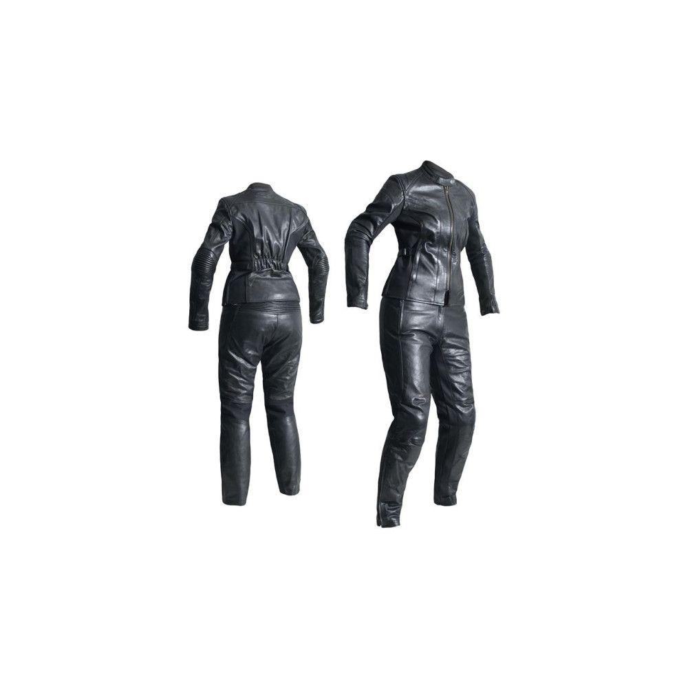 Cuir Femme Ladies Kate Noir Été Rst Pantalon Taille 48 5RAjL4