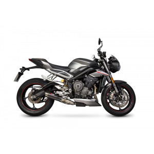 Silencieux SCORPION RP1-GP carbone Triumph Street Triple 765 2017-19