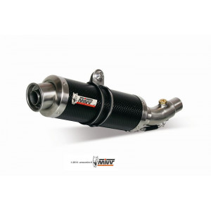 Silencieux double MIVV GP carbone Ducati Monster 750/900 1999-02