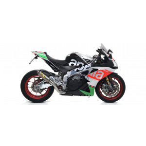 Echappement Arrow GP2 noir, Aprilia Tuono V4 1100 2017
