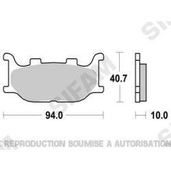 Plaquettes de frein Yamaha 125 TDR R Deltabox 93-02 WV Virago 97-01