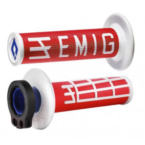 Revêtements ODI Emig V2 Lock-On rouge/blanc
