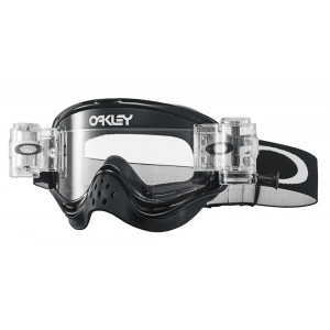 Masque OAKLEY O Frame MX Race-Ready Roll-Offs Jet Black écran transparent