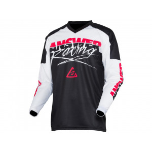 Maillot ANSWER Syncron Pro Glow White/Black/Pink taille XL
