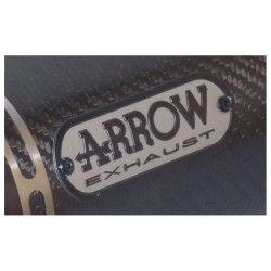 Badge échappement Arrow Gris / Noir 95 X 30