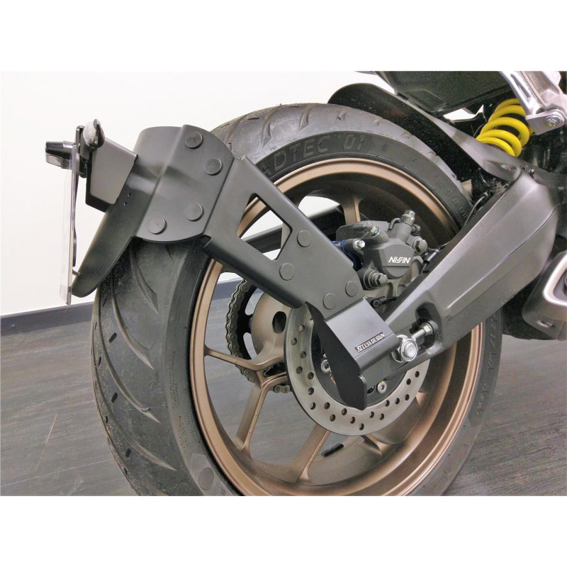 "Support de plaque ACCESS DESIGN ""ras de roue"" noir Honda CB CBR 650R"