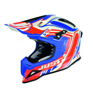 Casque Just1 J12 Flame rouge/bleu taille XS