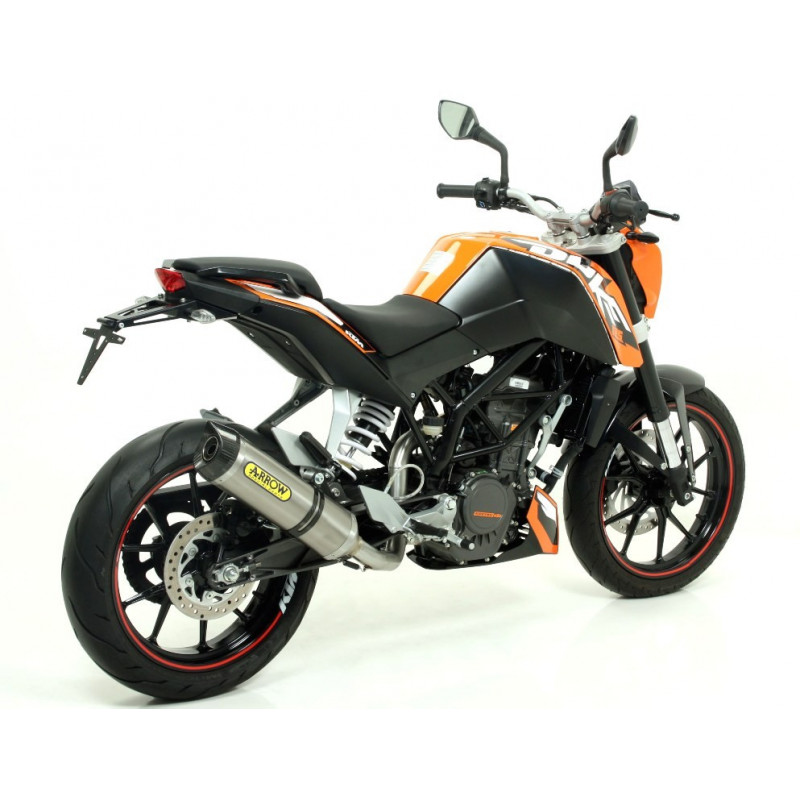 silencieux arrow thunder titane embout carbone ktm 125 200 duke 11 16 avsmoto racing parts. Black Bedroom Furniture Sets. Home Design Ideas