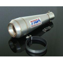 Silencieux Tyga Maggot inox style Moto gp 50mm