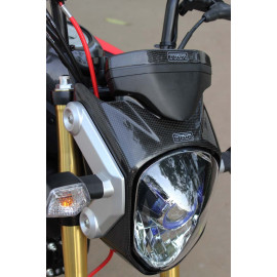 Capot tour de phare en carbone, Honda 125 MSX
