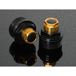 Bouchons de réglage de fourche Noir / Or, Honda 125 MSX