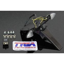 Bavette arrière carbone avec clignotant LED, Honda 125 MSX GROM