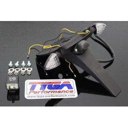 Bavette arrière noir avec clignotant LED, Honda 125 MSX GROM