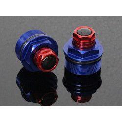 Bouchons de réglage de fourche Bleu / Rouge, Honda 125 MSX