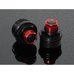 Bouchons de réglage de fourche Noir / Rouge, Honda 125 MSX