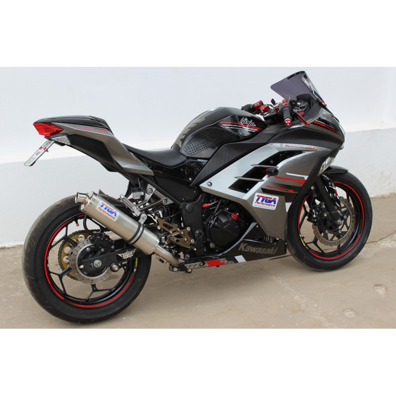 ligne compl te tyga performance silencieux inox kawasaki 250 300 r ninja 13 14 avsmoto racing. Black Bedroom Furniture Sets. Home Design Ideas
