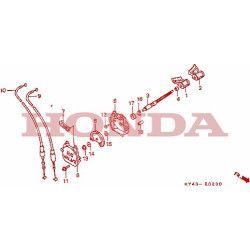 Ecrou pas à gauche axe de valve, Honda 125 NSR jc20 jc22 CRM jd13