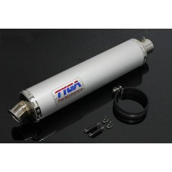Silencieux Tyga aluminium rond 450mm, Ø 50mm