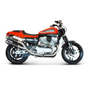Ligne complète Termignoni Racing 2x1x2 inox silencieux carbone rond, Harley Davidson XR 1200 R 08-11