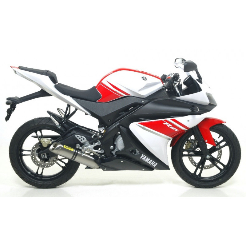 ligne d 39 chappement arrow racing silencieux aluminium yamaha 125 yzf r 2008 13 avsmoto racing. Black Bedroom Furniture Sets. Home Design Ideas