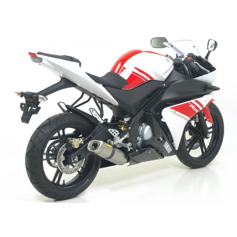 ligne d 39 chappement arrow racing silencieux aluminium noir yamaha 125 yzf r 2008 13 avsmoto. Black Bedroom Furniture Sets. Home Design Ideas