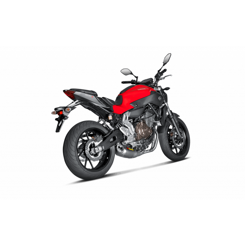 ligne chappement akrapovic racing titane yamaha mt07 2014 15 avsmoto racing parts. Black Bedroom Furniture Sets. Home Design Ideas