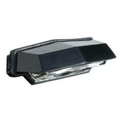 Eclairage de plaque 4 LED noir horizontal E11 EDP05