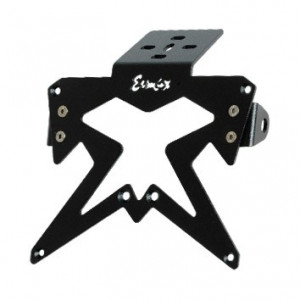 Support de plaque Ermax aluminium noir SUP09 + support clignotants
