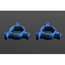 Ajusteur réglage de fourche 22mm aluminium bleu