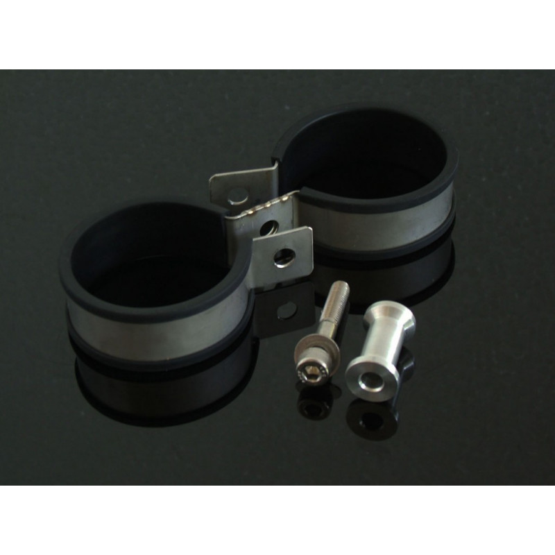 collier double pour silencieux 2 temps 60mm avsmoto racing parts. Black Bedroom Furniture Sets. Home Design Ideas