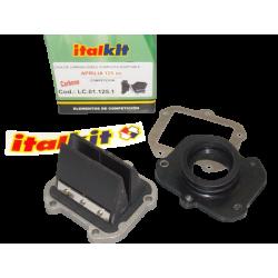 Kit admission Italkit 8 lamelles carbone, Aprilia 125cc Rotax