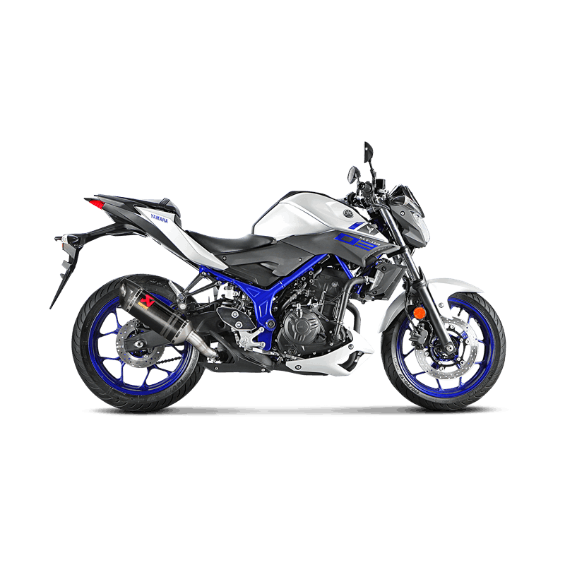 echappement akrapovic carbone yamaha mt 03 2016 17 avsmoto racing parts. Black Bedroom Furniture Sets. Home Design Ideas