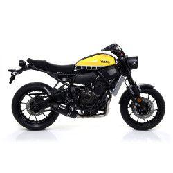 Ligne complète Arrow Jet Race Noir embout carbone, Yamaha 700 MT-07 2014-18