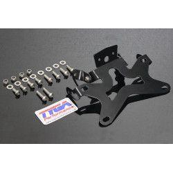 Support de plaque aluminium noir (double échappement Tyga), KTM RC390