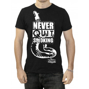 "Tee Shirt Tyga-Performance ""Never quit smoking"" noir taille S à XXL"