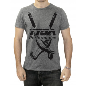 "Tee Shirt Tyga-Performance ""Twin chambers"" gris taille S à XXL"