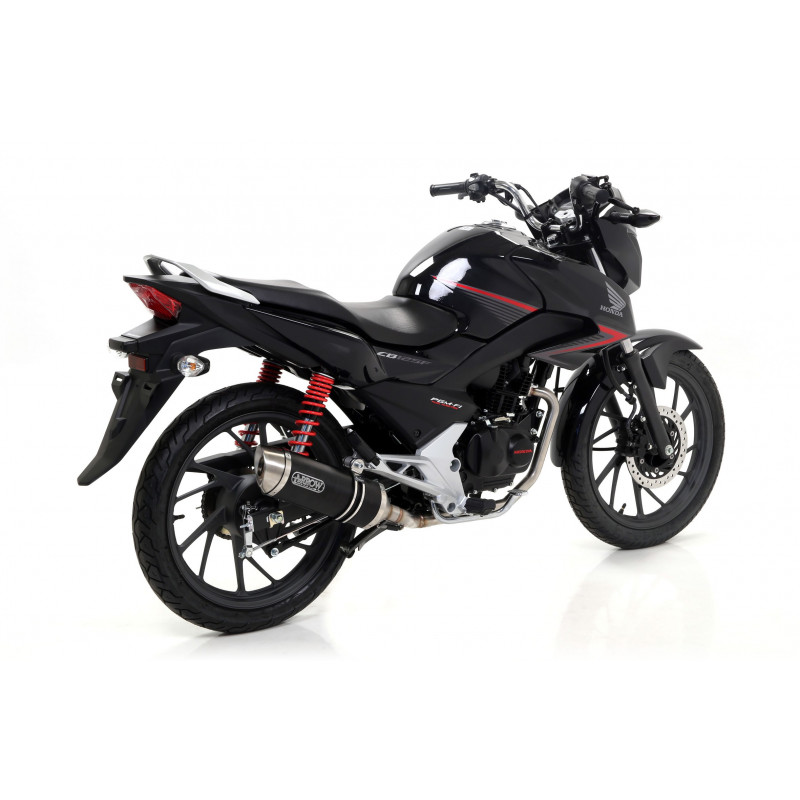 ligne compl te arrow thunder noir embout acier racing honda 125 cbf 2015 16 avsmoto racing parts. Black Bedroom Furniture Sets. Home Design Ideas