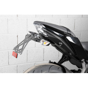 Support de plaque LIGHTECH reglable noir Kawasaki Z650 2017-19 - TARKA122