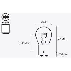Ampoule S25 12V-21/5W