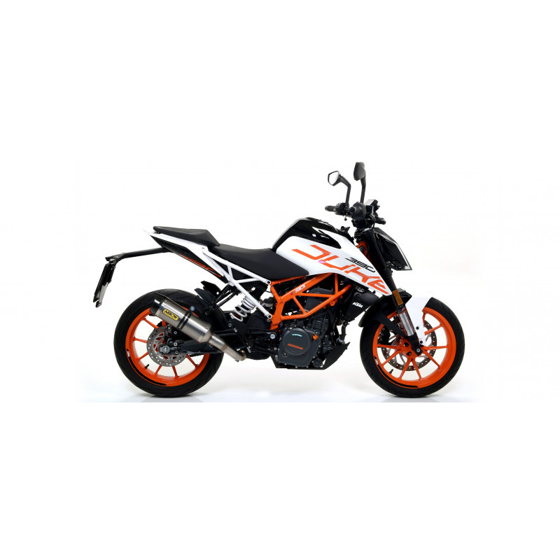 echappement arrow thunder titane ktm duke 125 et 390 2017 18 avsmoto racing parts. Black Bedroom Furniture Sets. Home Design Ideas